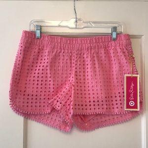 NWT Lilly Pulitzer x Target Pink Eyelet Shorts